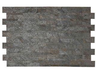 Bare Decor FlexRock Grey Pearl Peel and Stick Tile in Real Quartzite Stone  9 Sq Ft