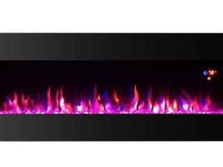 Toplife Electric Fireplace  surface wall mount w  log effect  fire color selection with dimmer Retail 323 99