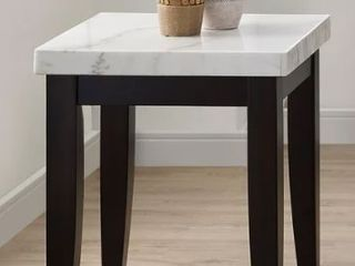 Fairfax White Marble End Table by Greyson living Retail  229 49