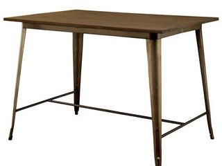 Natural Elm Furniture of America Rish Industrial Brown 54 inch Counter Dining Table Retail  429 99