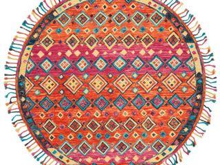 Safavieh Handmade Aspen Bohemian   Eclectic Tribal Orange Fuchsia Wool Rug  Retail 136 99