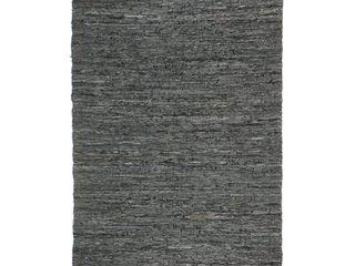 Black Matador leather Chindi Rug  Retail 384 49