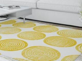 AROUND and AROUND YEllOW Area Rug by Kavka Designs  Retail 789 99