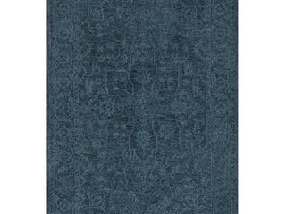 Addison Harlow Vintage Hand Tufted Blue Wool Area Rug