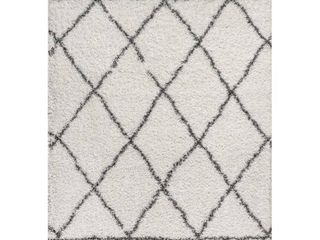 Mercer Shag Plush Tassel Moroccan Geometric Trellis Area Rug  Retail 152 99