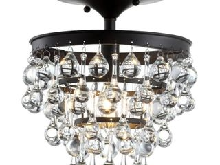 Toronto 10  Metal Crystal lED Flush Mount  Oil Rubbed Bronze by JONATHAN Y