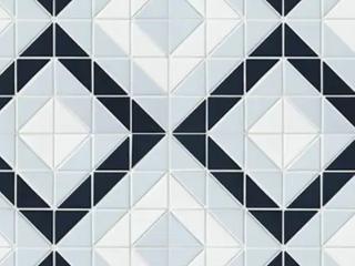 CASE SomerTile 10 75x10 75 inch Tri Vertex Blue Ice Mix Porcelain Mosaic Floor and Wall Tile  10 tiles 8 21 sqft  Retail  132 50