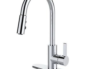 Chrome Clear   Single Handle Pull down Deck Mounted Kitchen Faucet   Retail 97 49