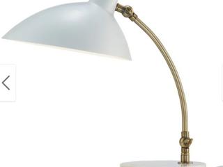 Strick   Bolton Kellen Antique Brass and White Marble Desk lamp  Retail 138 99