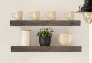 The Gray Barn Haven Rustic Wood Floating Wall Shelf  large