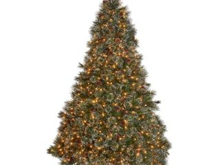 Green   Clear lights 4 5 foot Cashmere Pine and Mixed Spruce Artificial Christmas Tree by Christopher Knight Home Retail 104 49