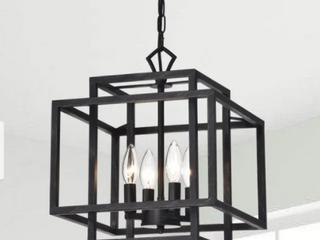 Eleonor Antique Black 4 light Ironwork Chandelier  Retail 114 49