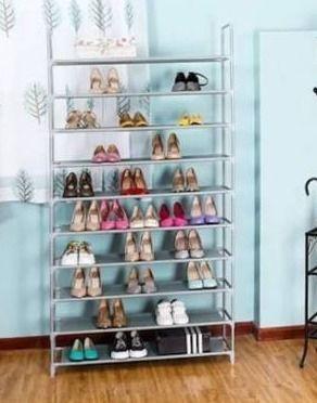 10 tier Non woven fabric shoe rack