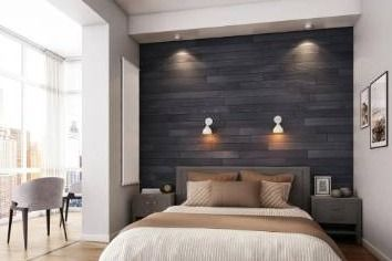 NaturaPlank Peel and Stick Real Wood Wall Panels with 3M Adheisive Tape  Chic Black  Retail 162 99