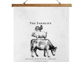 The Farm life Scroll Tapestry by Kavka Designs