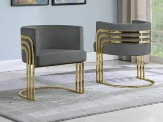 1 Best Quality Furniture Accent Chairs with Gold Base  Single  Grey  Retail 359 99