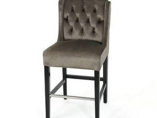 Grey  leander Modern Velvet Counter Stool by Christopher Knight Home  Retail 185 49