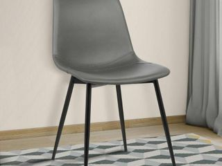 Grey  Monte Faux leather Dining Accent Chair  Retail 92 99