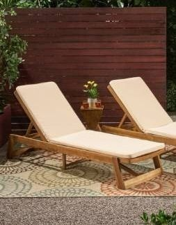 1 cushion Nadine Outdoor Fabric Chaise lounge Cushion by Christopher Knight Home