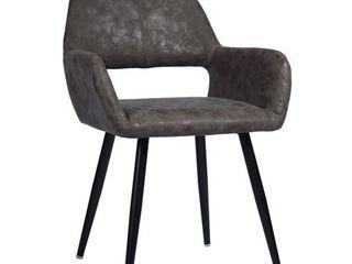 FurnitureR Dark Brown Black legs Dining Chair Cromwell  1 PC