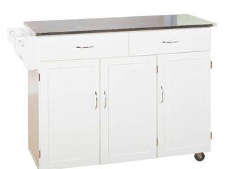 Extra large Kitchen Cart White   Buylateral