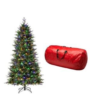 7 5 Foot   Green  Glitzhome Pre lit Green Fir Artificial Christmas Tree with lED Warm lights and Remote