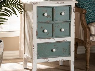 White   5 drawer  French Country Cottage 5 Drawer Chest  Retail 172 99