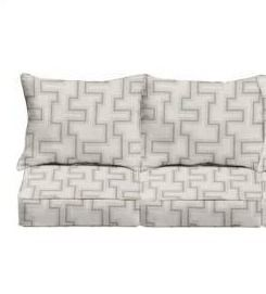 4pc Sunbrella Resonate Dune Corded Sofa Cushion and Pillow Set  Set of 4  Retail 145 49