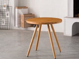 Corvus lille Mid century Bamboo Site End Table  Retail 123 99