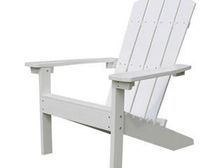 lakeside Faux Wood Adirondack Outdoor Portable Chair White   Merry Products