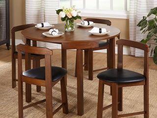 Chairs ONlY Harrisburg 4 piece Tobey Walnut Chair Set