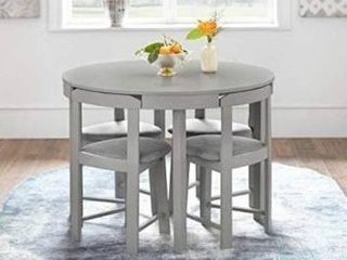 TABlE ONlY Harrisburg Tobey Round Dining Table Gray