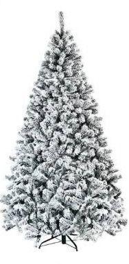 7 5FT Artificial Christmas Tree Snow Flocked Hinged Tree  Retail 146 49