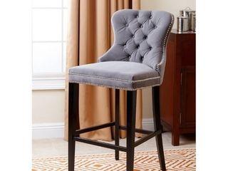 Abbyson Versailles 30 inch Tufted Velvet Barstool  Retail 338 99