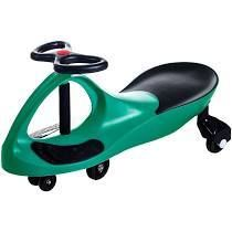 ride on car  no batteries  gears or pedals  uses twist  turn  wiggle movement to steer zigzag car green  for toddlers  kids  2 years old and up