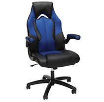 OFM Essentials Collection High Back Racing Style Bonded leather Gaming Chair  in Blue  ESS 3086 BlU