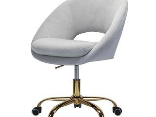 Grey  Savas Mid century Modern Upholstered Swivel Task Chair  Retail 208 99