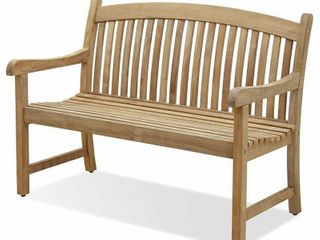 Amazonia Newham 1 piece Patio Bench Certified Teak Ideal for Outdoors and Indoors