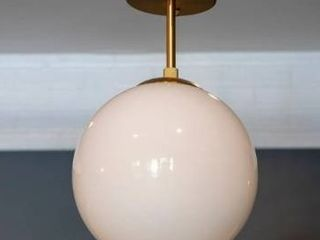 Carson Carrington Henningsvaer Glass 1 light Semi flush light Fixture