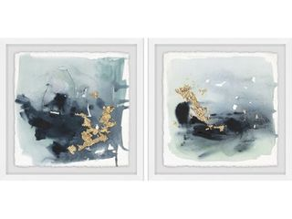 INCOMPlETE Marmont Hill   Handmade Golden Smear Diptych  Retail 206 99