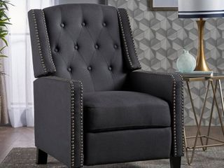 Izidro Tufted Fabric Recliner by Christopher Knight Home  Retail 279 99