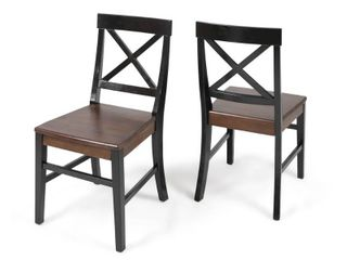 4 Roshan Farmhouse Acacia Wood Dining Chair  Set of 4  by Christopher Knight Home   Retail 149 00