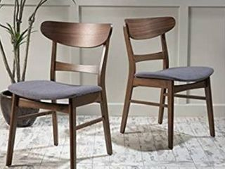 Idalia Mid Century Modern Dining Chairs  Set of 2  by Christopher Knight Home  Retail 126 49