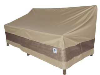 Duck Covers Elegant Square Hot Tub Cover Cap   All Weather Protection Outdoor Cover  94l x 94W x 14H Swiss Coffee