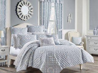 Claremont Blue Twin 2pc  Quilt Set Bedding