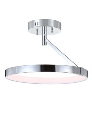 Owen 17 5  Dimmable Integrated lED Semi Flush mount by JONATHAN Y
