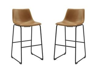 Home loft Concept 28  Bar Stool  Set of 2  Whiskey Brown