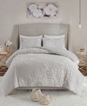 Madison Park Veronica Full Queen 3 Pc  Tufted Cotton Chenille Floral Comforter Set Bedding