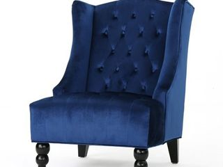 Toddman High Back Velvet Club Chair by Christopher Knight Home  Retail 276 49
