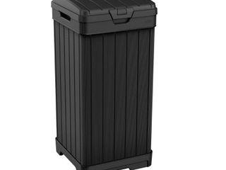 39gal Baltimore Outdoor Resin Trashcan Black   Keter